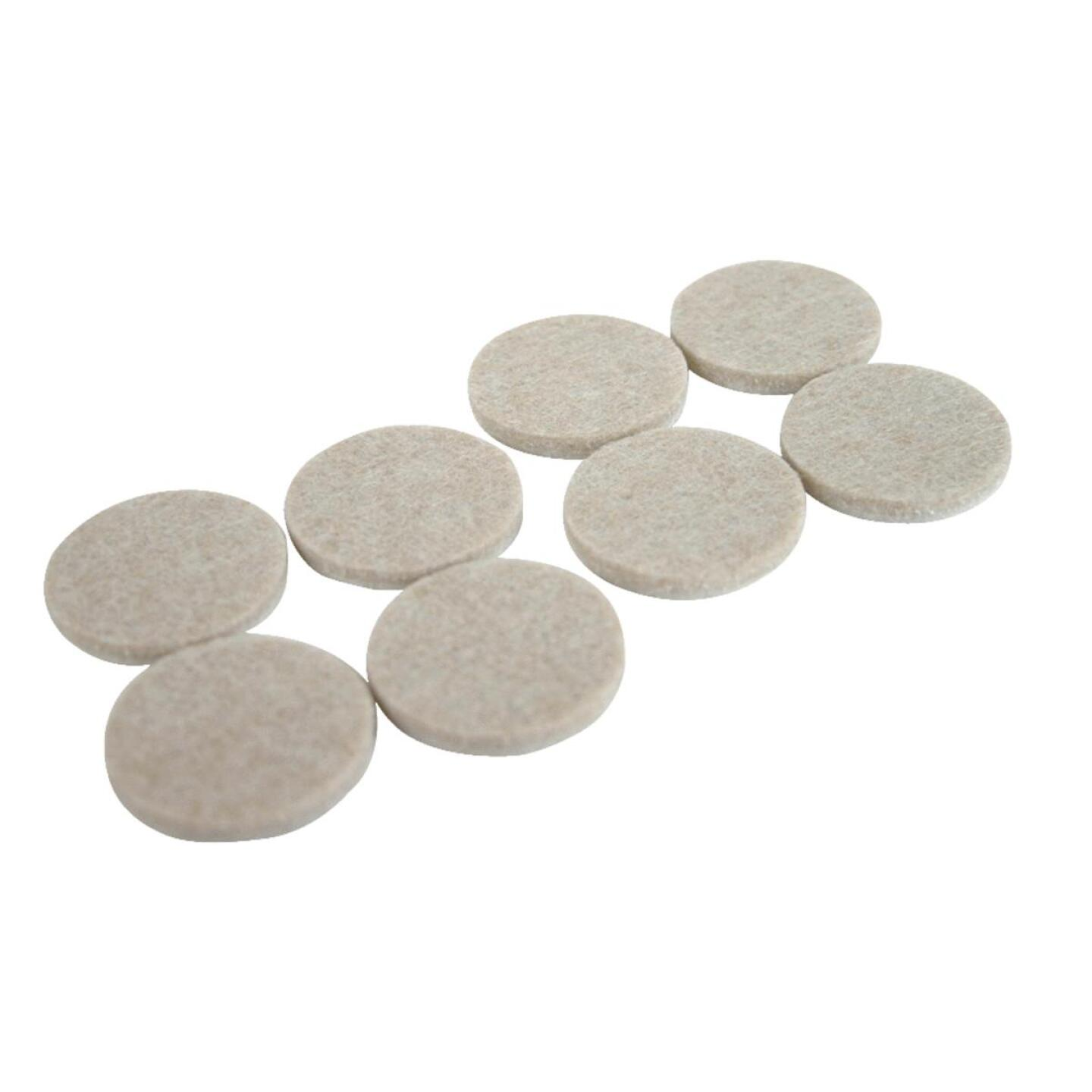 Magic Sliders 1-1/2 In. Round Oatmeal Self Adhesive Felt Pads (8-Pack) Image 1