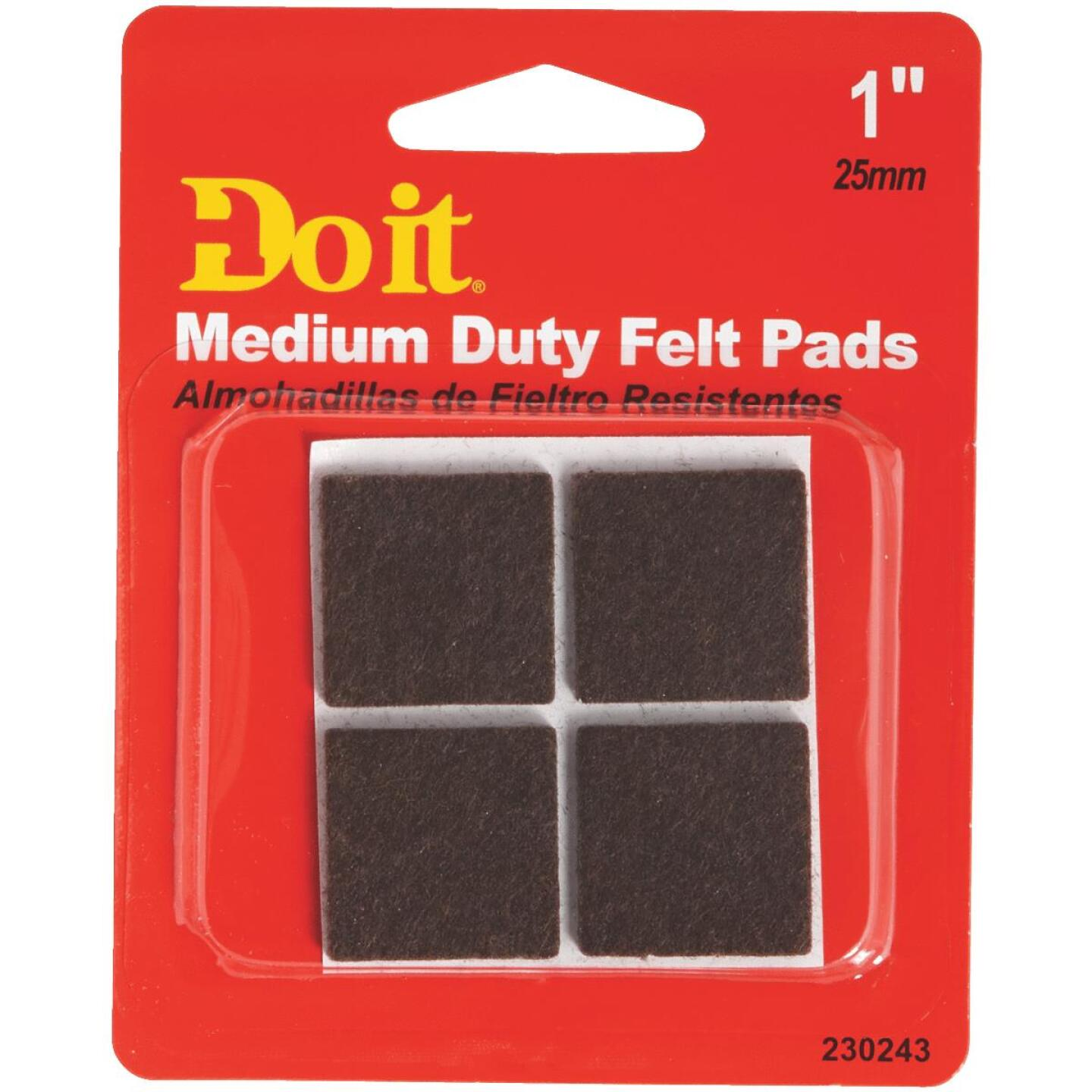 Do it 1 In. Brown Square Felt Pad (4-Count) Image 2