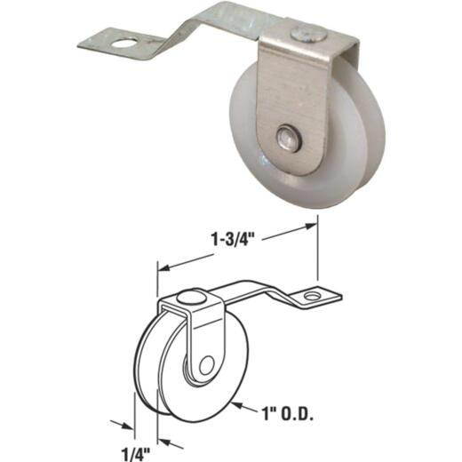 Prime-Line 1 In. x 1/4 In.nSpring Tension Nylon Screen Door Roller Assembly (2-Count)