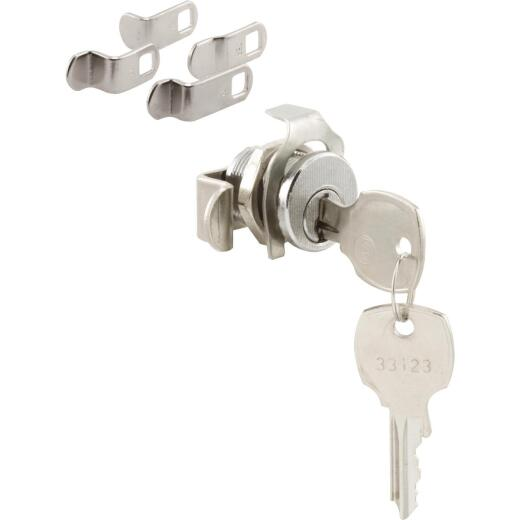 Defender Security Satin Nickel Threaded Spring Clip Mailbox Lock