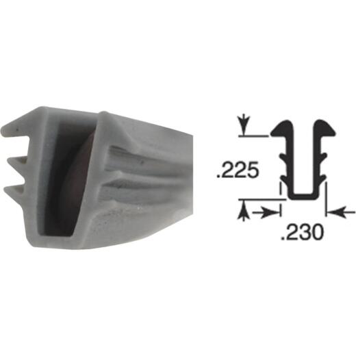 Prime Line 9/32 In. Single Strength Glass Glazing Channel