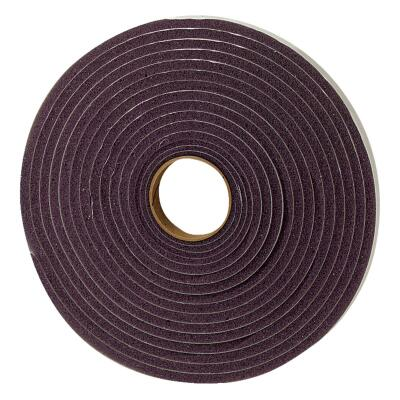 "M-D 3/8"" W x 3/16"" T x 17' L Gray Foam Open Cell Weatherstrip Tape"