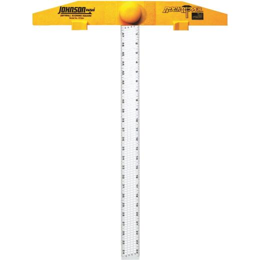 Johnson Level RockRipper 24 In. Aluminum English/Metric Scoring Drywall Square