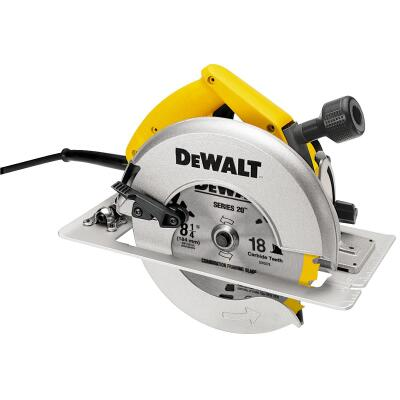 DeWalt 15-Amp 8-1/4 In. Circular Saw with Rear Pivot Depth of Cut Adjustment and Electric Brake