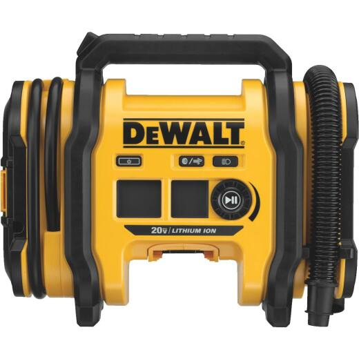 DeWalt 20 Volt MAX Lithium-Ion 160 psi Corded/Cordless Inflator (Bare Tool)