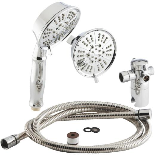 Home Impressions 5-Spray 1.75 GPM Combo Hand-Held Shower & Showerhead, Chrome