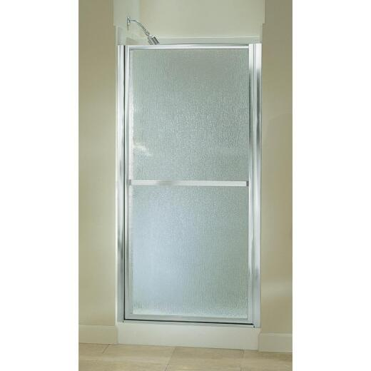 Sterling Finesse 33-1/2 In. W. X 65-1/2 In. H. Silver Rain Glass Hinge Shower Door