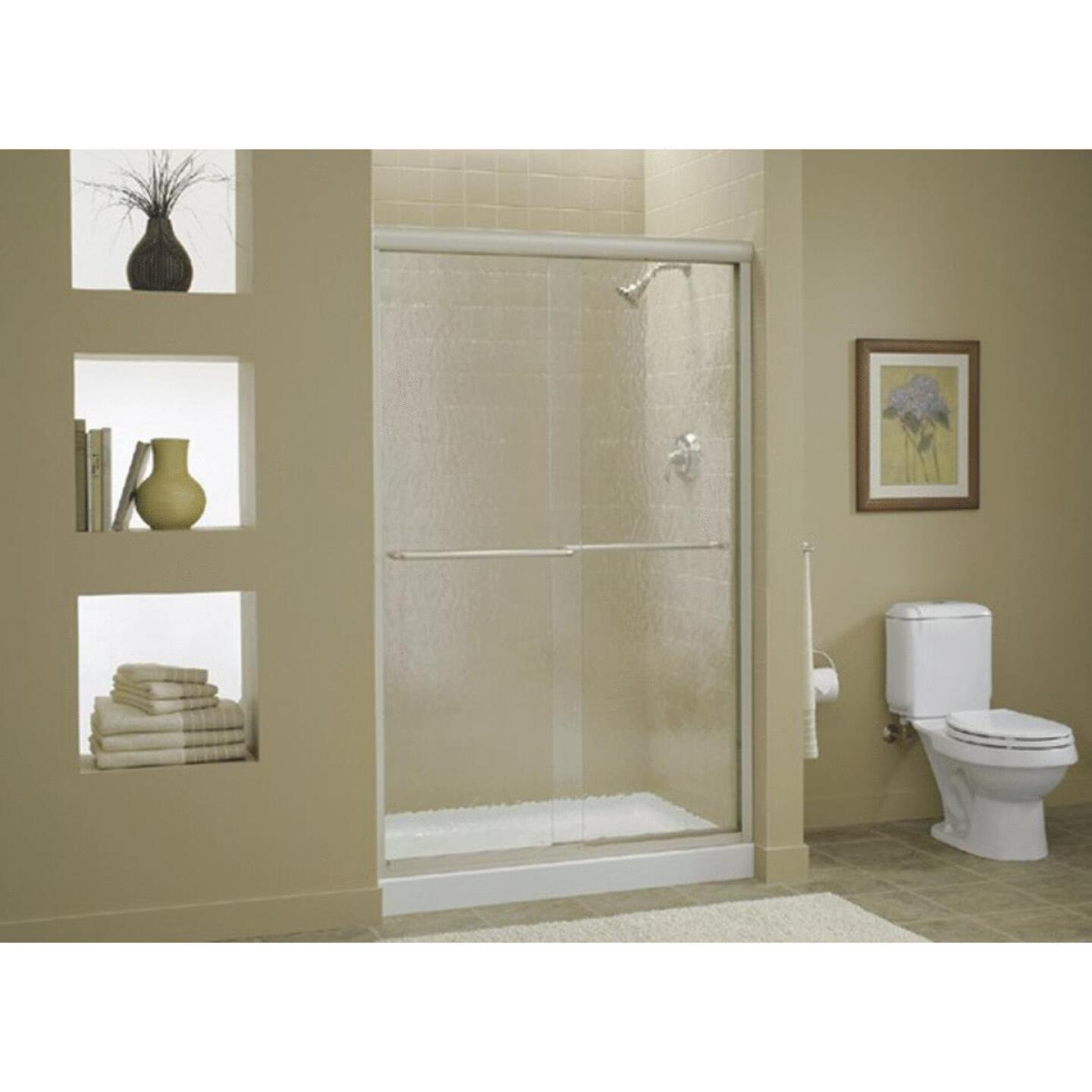 Sterling Finesse 47-5/8 In. W. X 70-5/16 In. H. Nickel Frameless Clear Sliding Shower Door Image 1