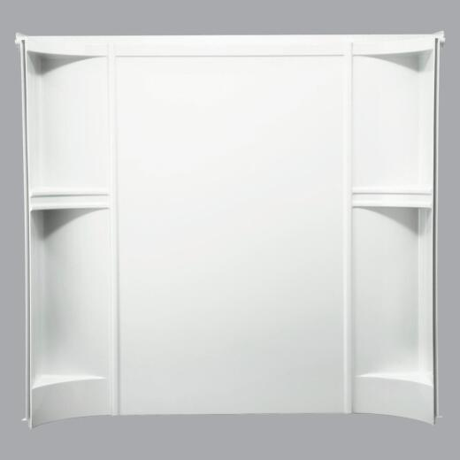Sterling Accord 7124 Series 3-Piece 72 In. H Tub Wall Kit in White