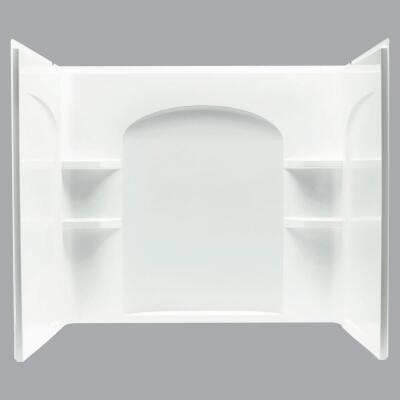 Sterling Ensemble 7122 Series 3-Piece 60 In. W x 33-1/4 In. D x 55-1/4 In. H Tub Wall Kit in White