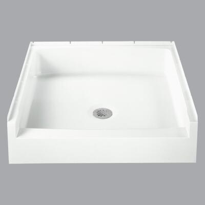 Sterling Advantage 32 In. W x 34 In. D Center Drain Shower Floor & Base in White