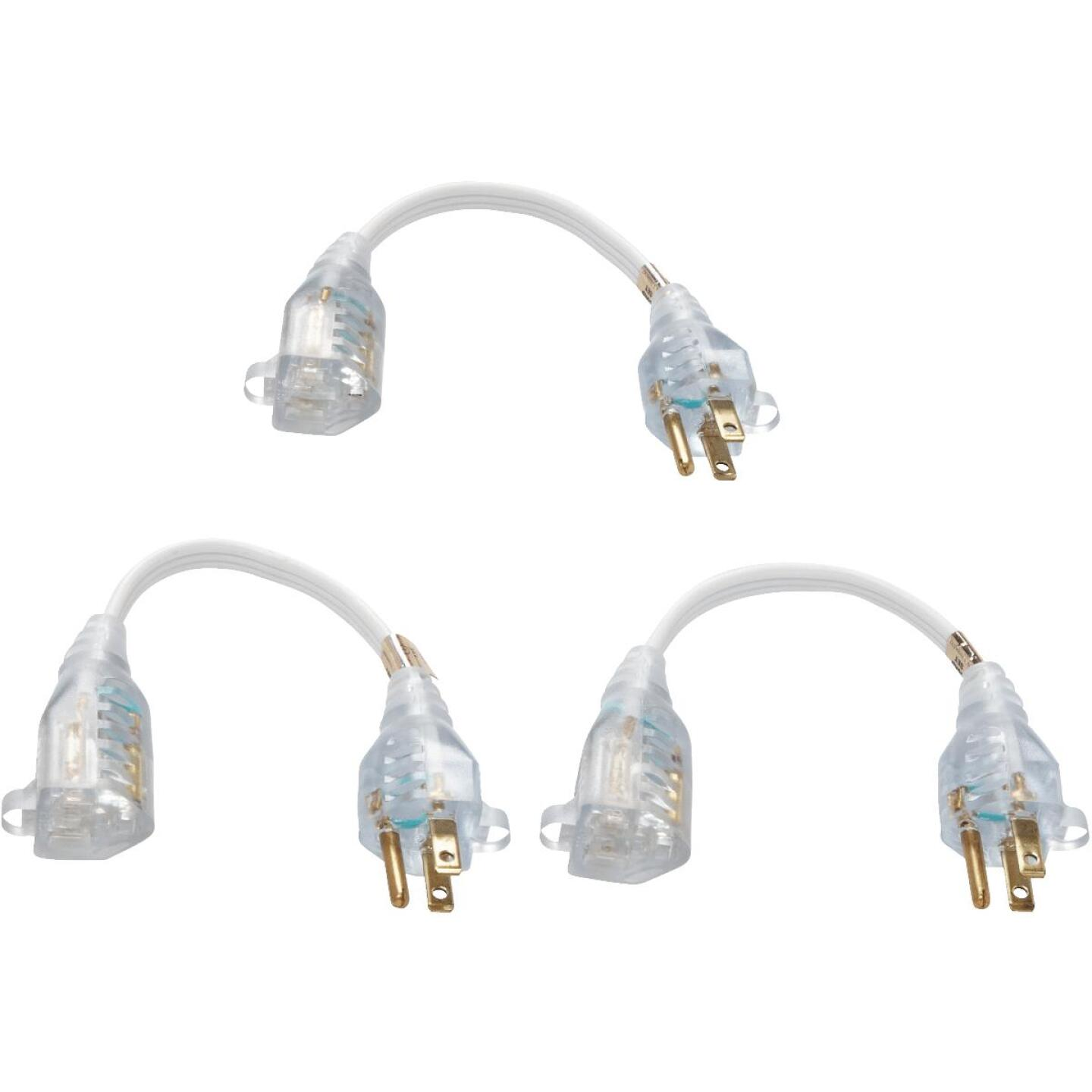 Do it Best 8 In. 16/3 Short Extension Cord Set (3-Pack) Image 2