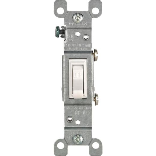 Leviton Residential Grade 15 Amp Toggle Single Pole Switch, White