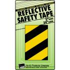 Hy-Ko 2 In. W. x 24 In. L. Yellow & Black Stripe Reflective Safety Tape Image 1