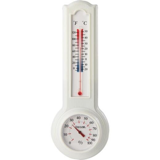 Taylor Fahrenheit & Celsius Analog 0 to 120 F, -20 to 50 C Hygrometer & Thermometer