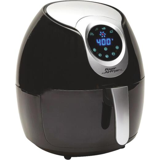 Power Air Fryer XL 5.3 Qt. Black Plastic Deep Fryer