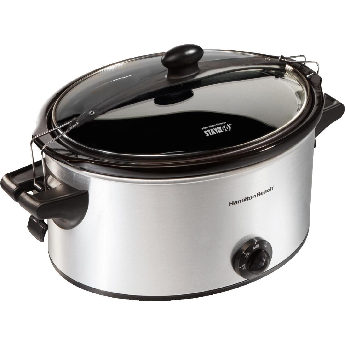Hamilton Beach Stay or Go 6 Qt. Stainless Steel Slow Cooker Image 2