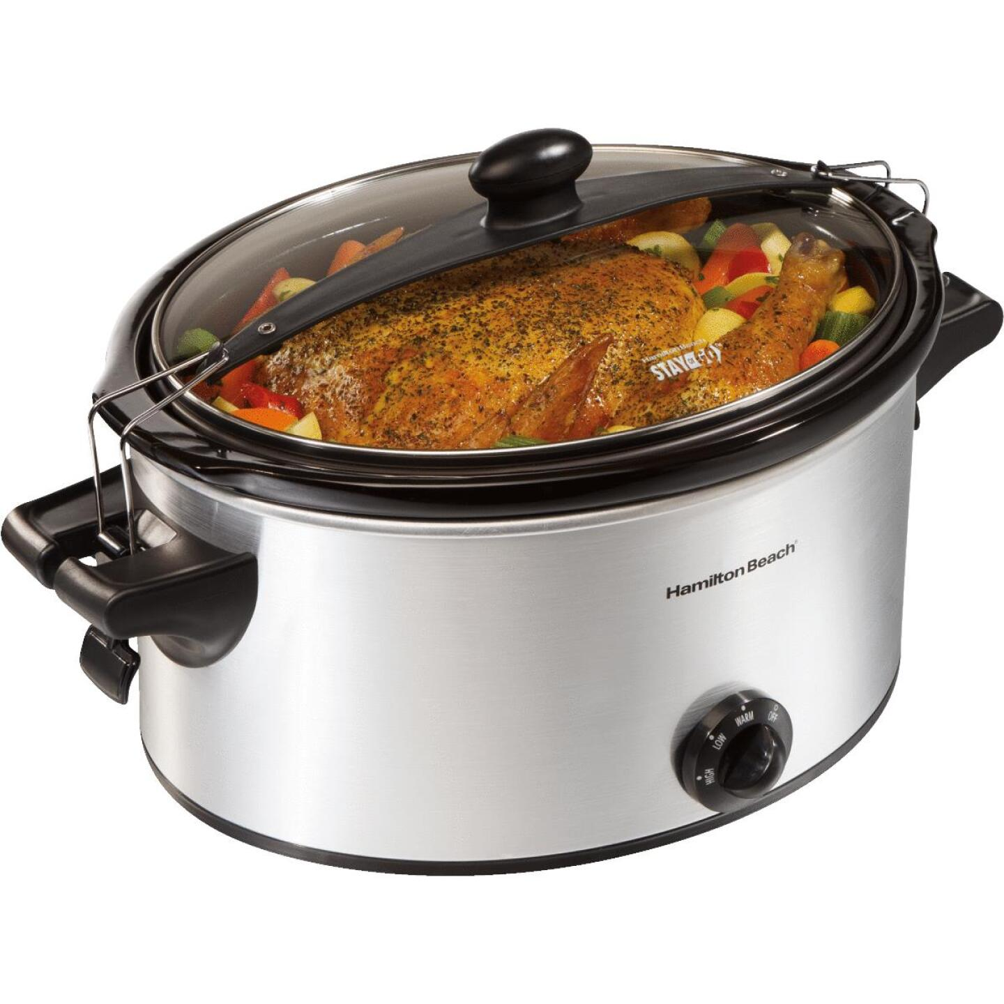 Hamilton Beach Stay or Go 6 Qt. Stainless Steel Slow Cooker Image 3
