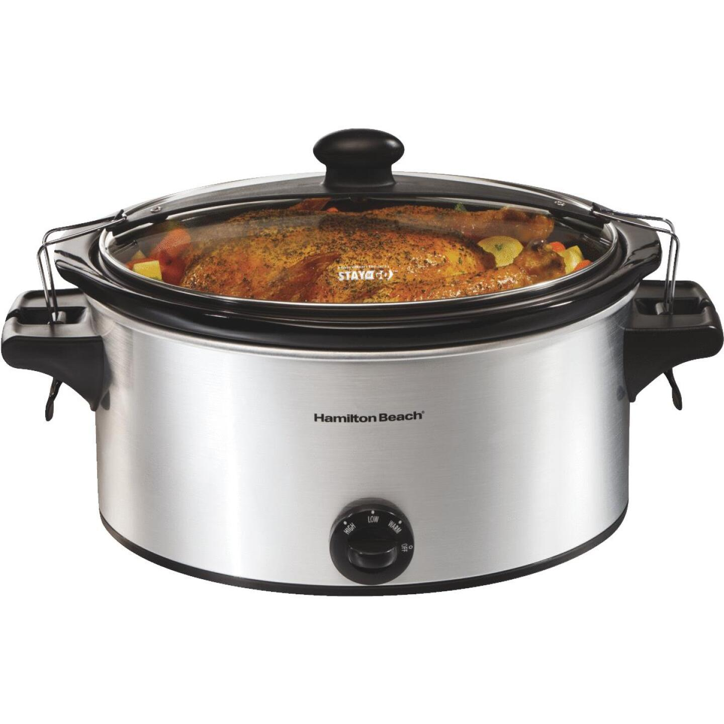 Hamilton Beach Stay or Go 6 Qt. Stainless Steel Slow Cooker Image 8