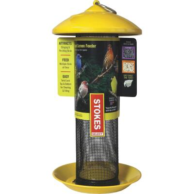 Stokes Select 13 In. 1 Lb. Capacity Yellow Finch Screen Feeder