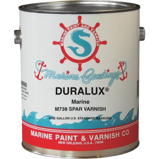 DURALUX Marine Spar Varnish, Clear, 1 Gal.