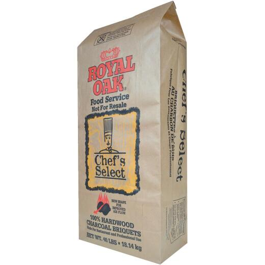 Royal Oak Chef's Select 40 Lb. Briquets Charcoal