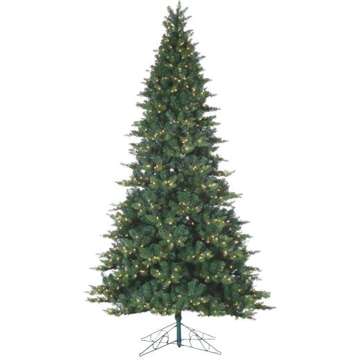 Gerson 9 Ft. Longwood Pine 900-Bulb Clear Incandescent Prelit Artificial Christmas Tree