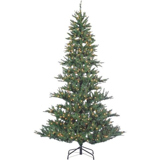 Sterling 7.5 Ft. Riverside Spruce 650-Bulb Clear Incandescent Prelit Artificial Christmas Tree