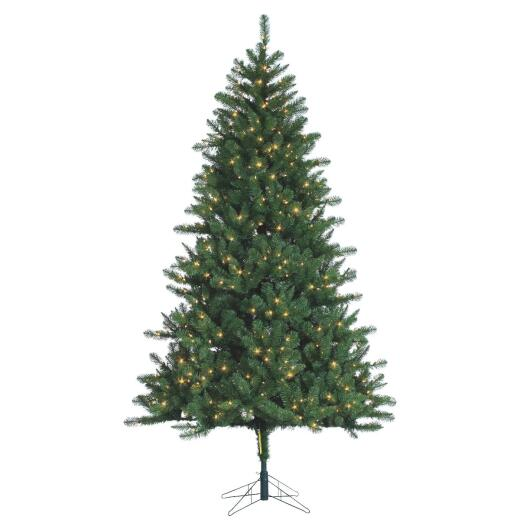 Gerson 7.5 Ft. Hawthorne Pine 700-Bulb Clear Incandescent Prelit Artificial Christmas Tree